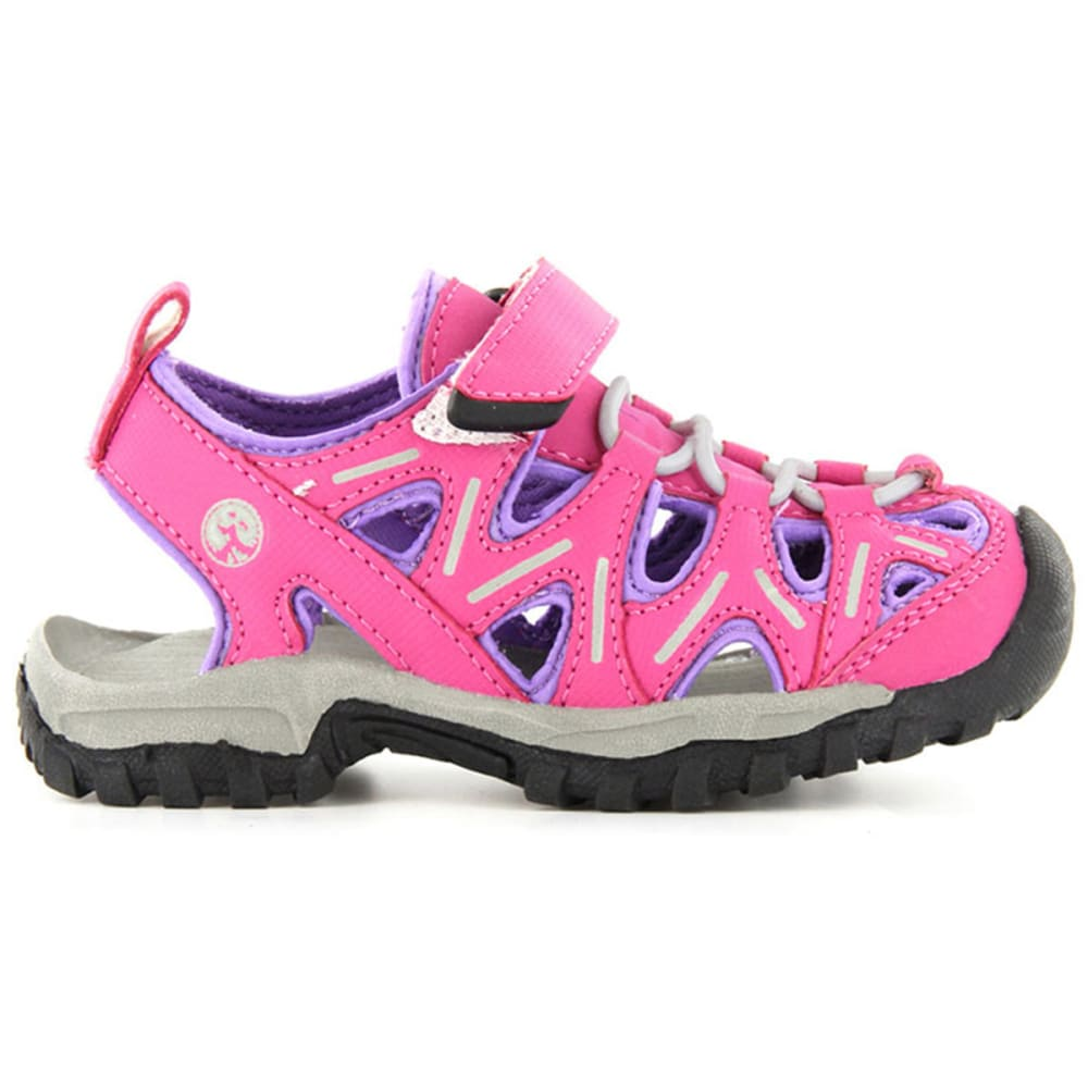 NORTHSIDE Girls' Boulder Sandals, Fuchsia/Purple, 3-5 - FUCHSIA/PURPLE