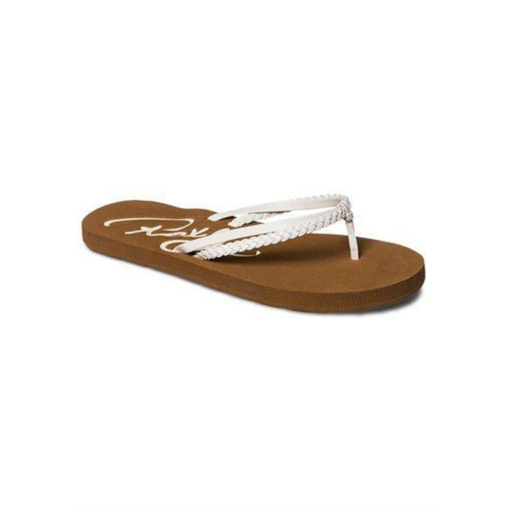 ROXY Girls' Cabo Sandals - WHITE