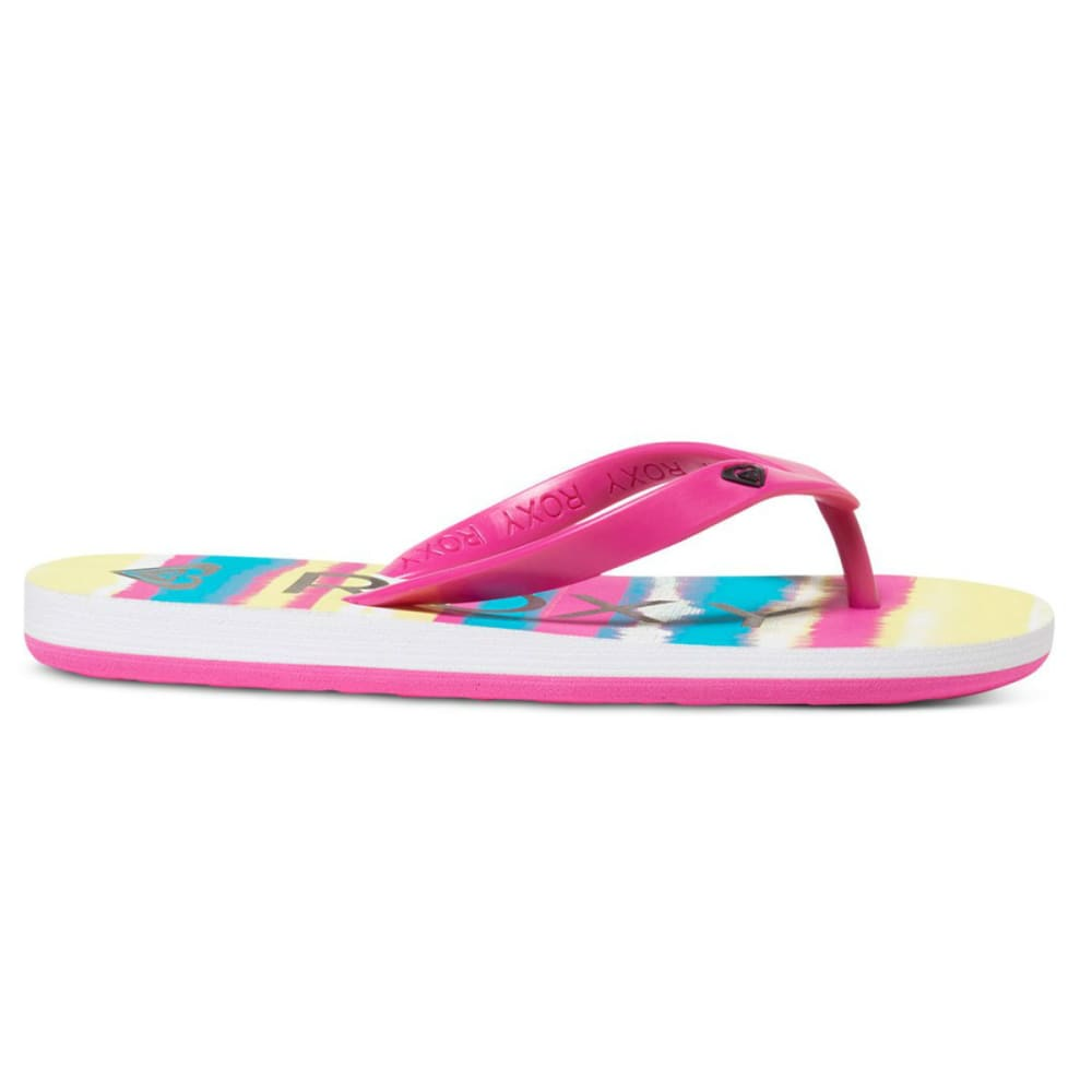ROXY Girls' Tahiti Flip Flops - FUCHSIA