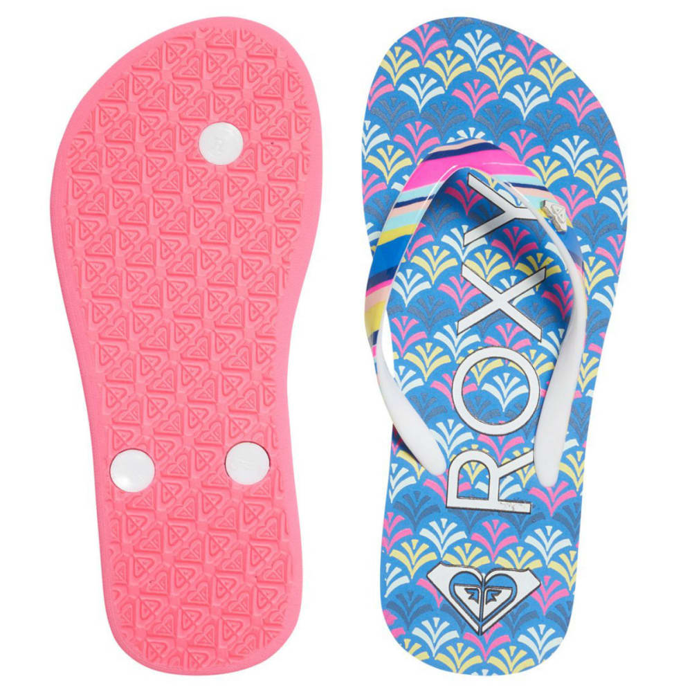 ROXY Girls' Pebbles Flip Flops - OCEAN