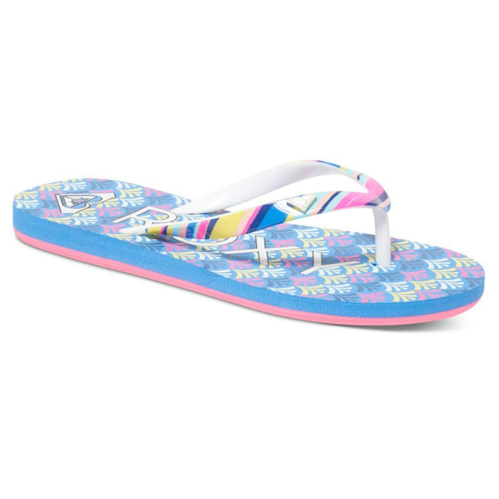 ROXY Girls' Pebbles Flip Flops - OCEAN