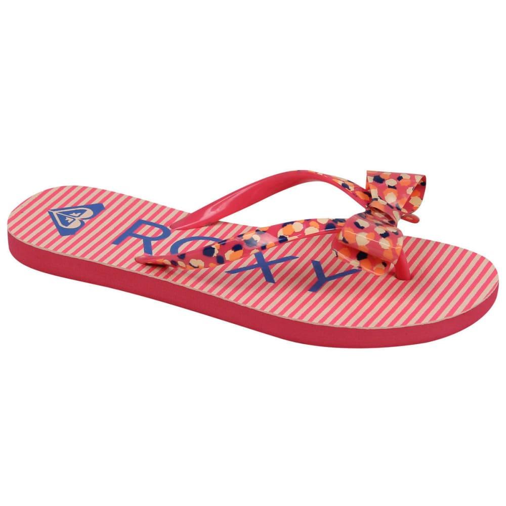 ROXY Girls' Lulu Flip Flips - PINK CARNA 100073
