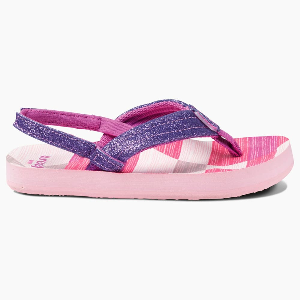 REEF Girls' Little Ahi Stars Sandals - PURPLE