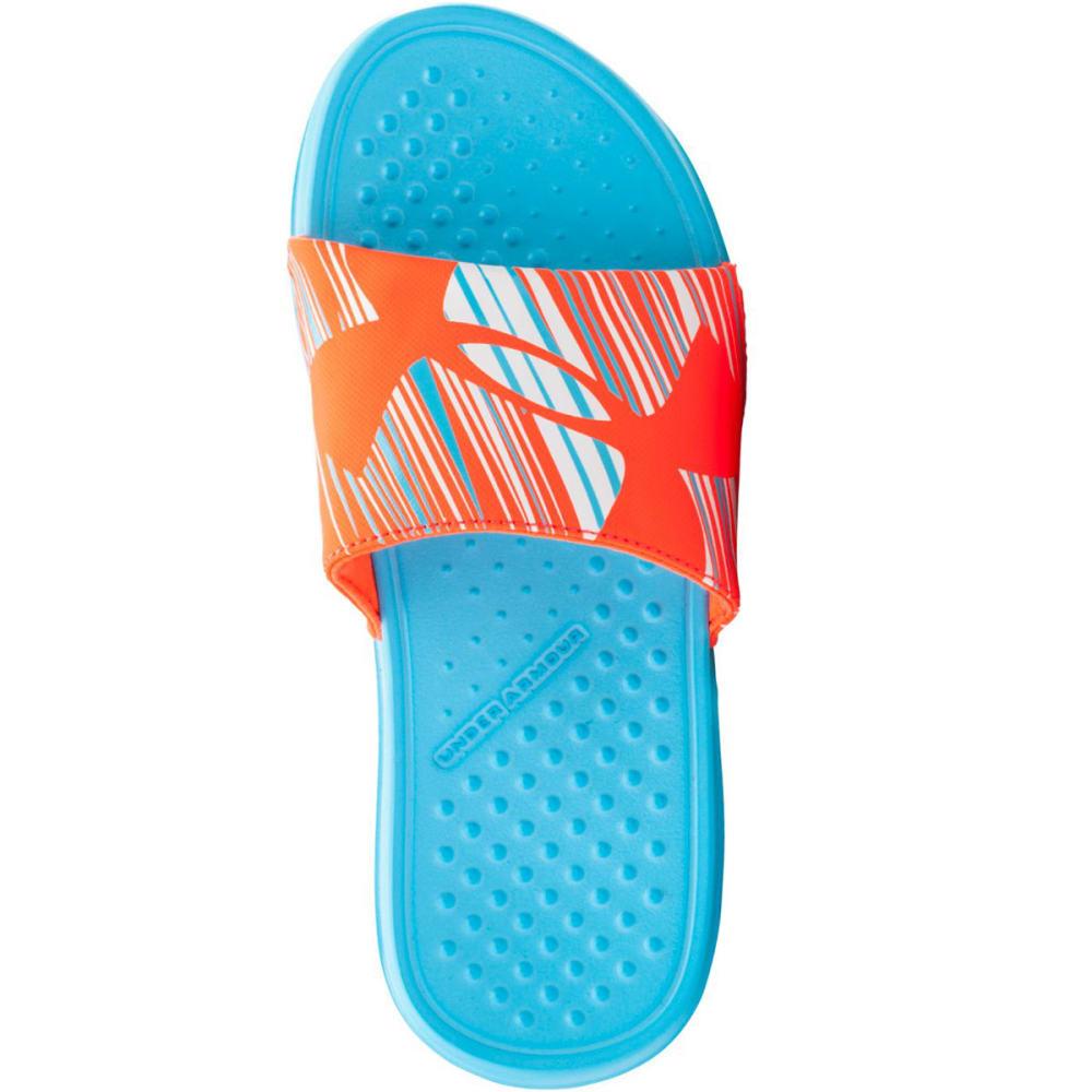 UNDER ARMOUR Girls' Strike Wind Sandals - SURFS UP/AFTER BURN/