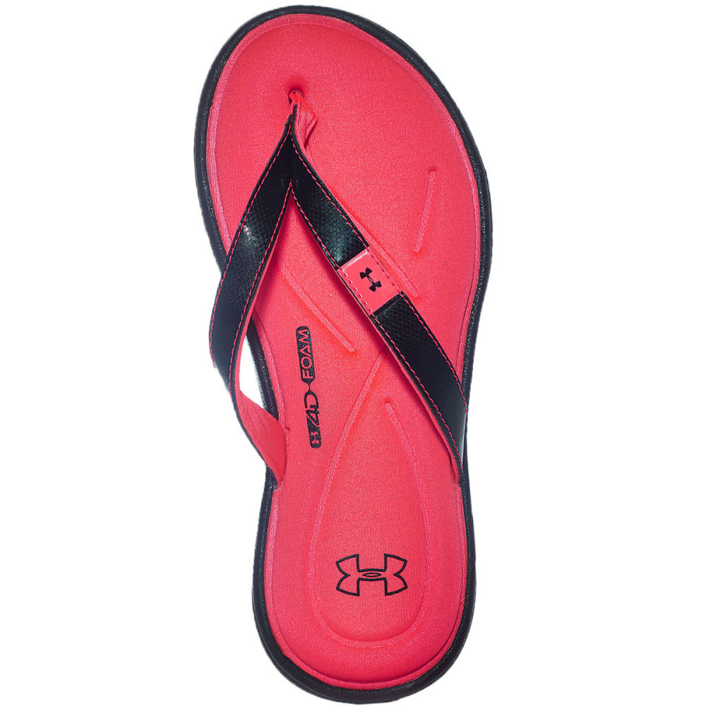 UNDER ARMOUR Girls' Marbella IV Sandals - BLACK/NEO