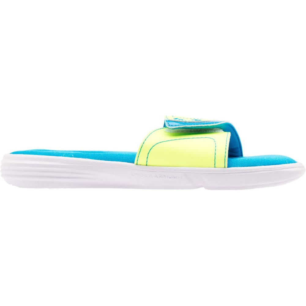 UNDER ARMOUR Girls' Ignite VII Slides - TURQUOISE - 427