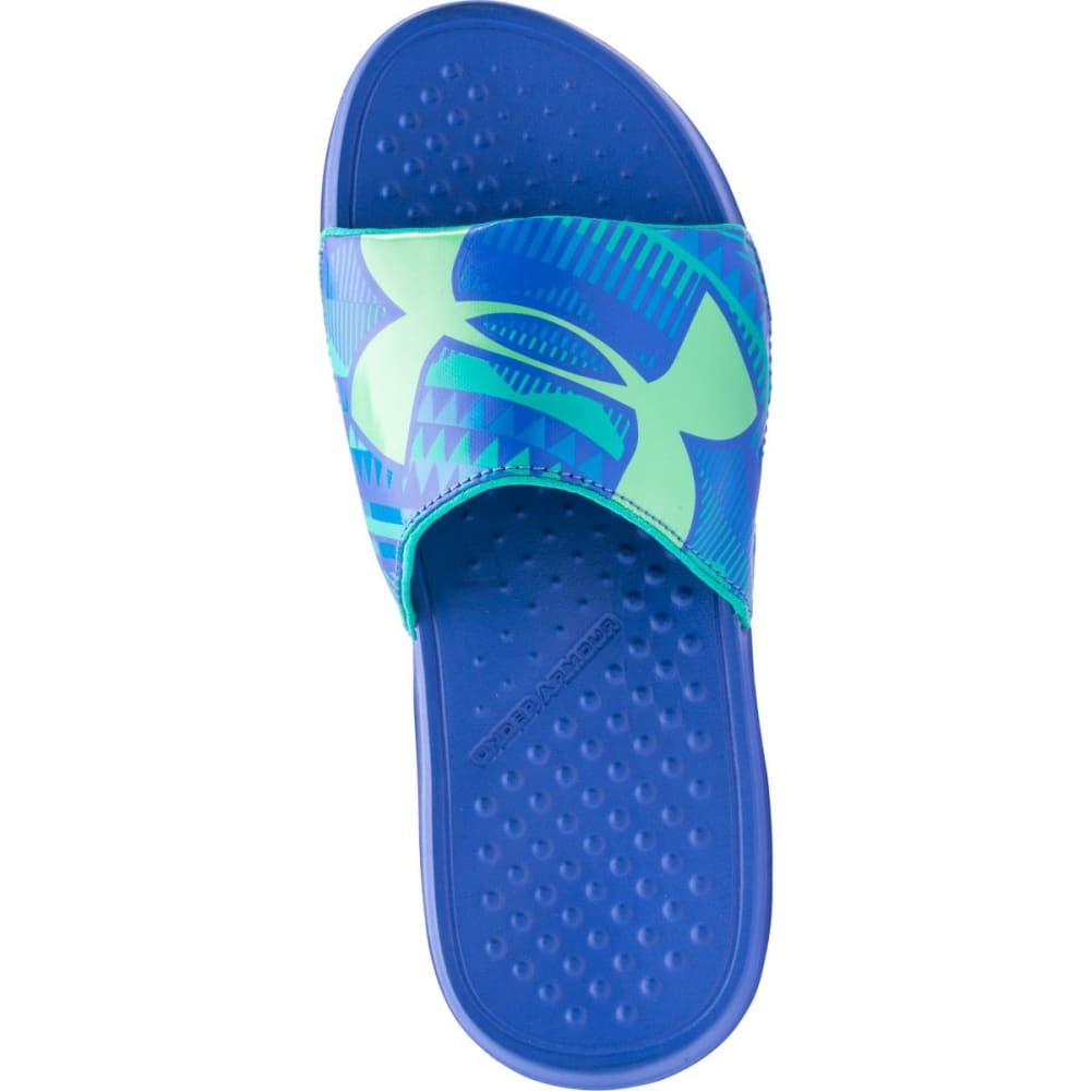 UNDER ARMOUR Girls' Strike Geo Sandals - MIRROR