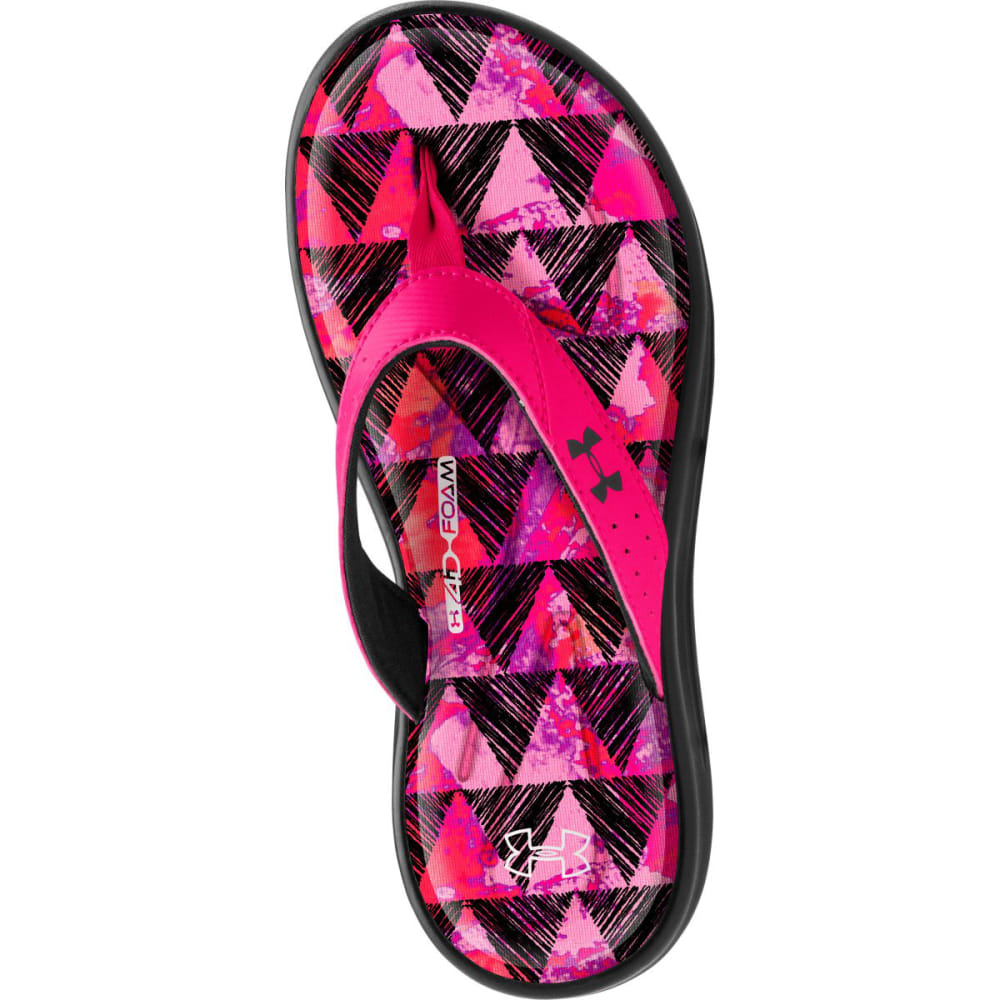 UNDER ARMOUR Girls' Marbella Sandals - PINK/BLACK
