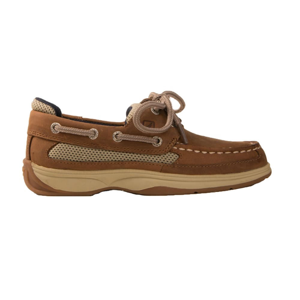 SPERRY Boy's Lanyard Boat Shoes - TAN/NAVY