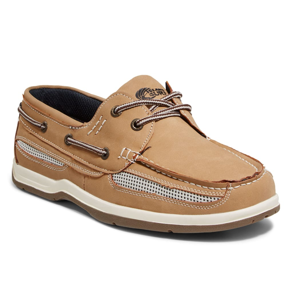 ISLAND SURF Boys' Cod Boat Shoes - LIGHT BROWN