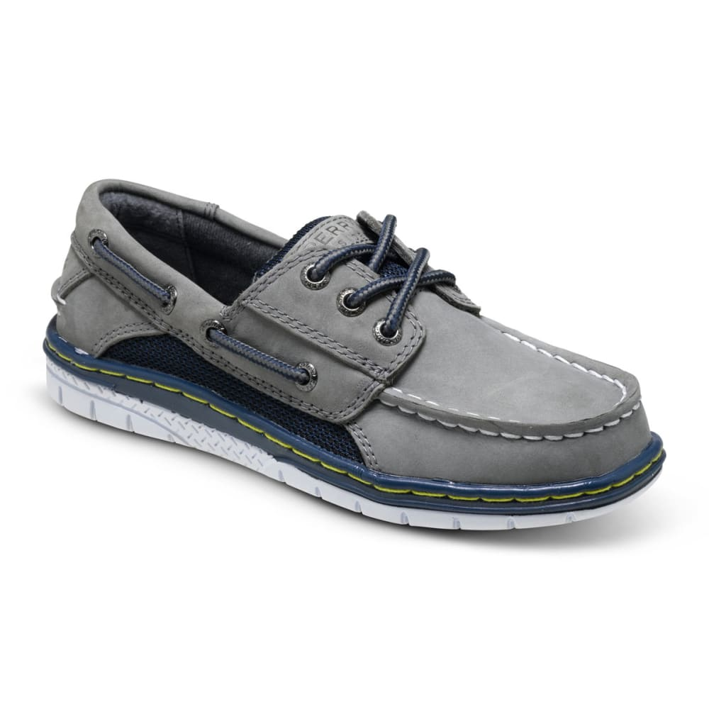 SPERRY Boy's Billfish Sport Boat Shoes - LIGHT GREY