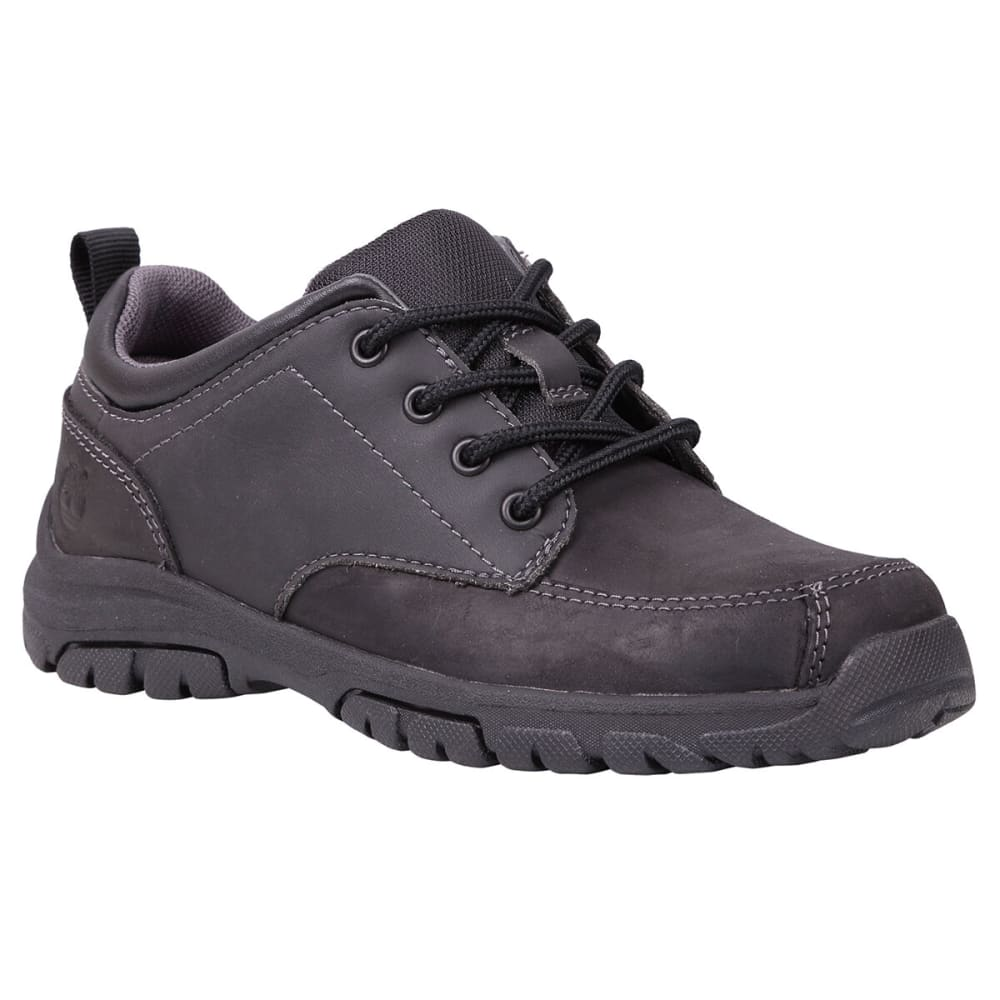 TIMBERLAND Boys' Discovery Pass Plain Toe Oxford Shoes, Wide Width - BLACK/NEPTUNE