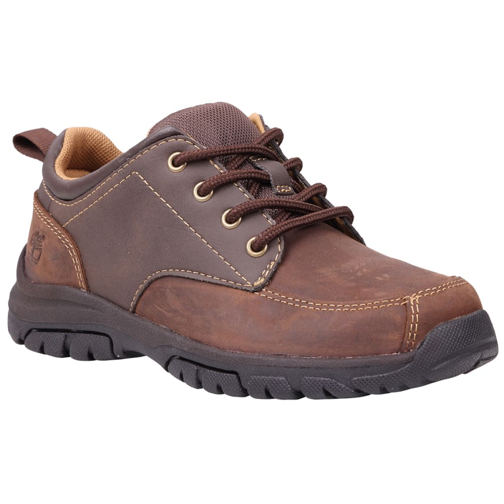 TIMBERLAND Boys' Discovery Pass Plain Toe Oxford Shoes, Medium Width - BROWN/CHEVRON