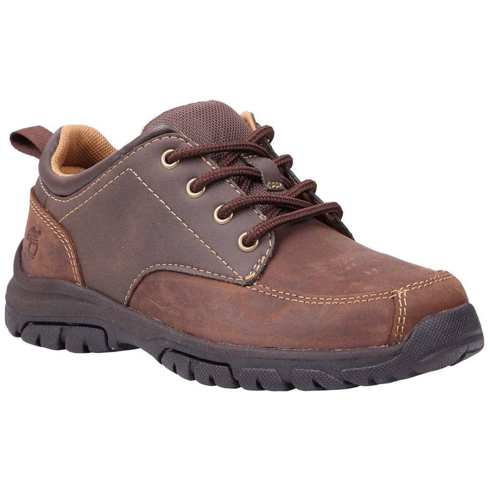 TIMBERLAND Boys' Discovery Pass Plain Toe Oxford Shoes, Wide Width - BROWN