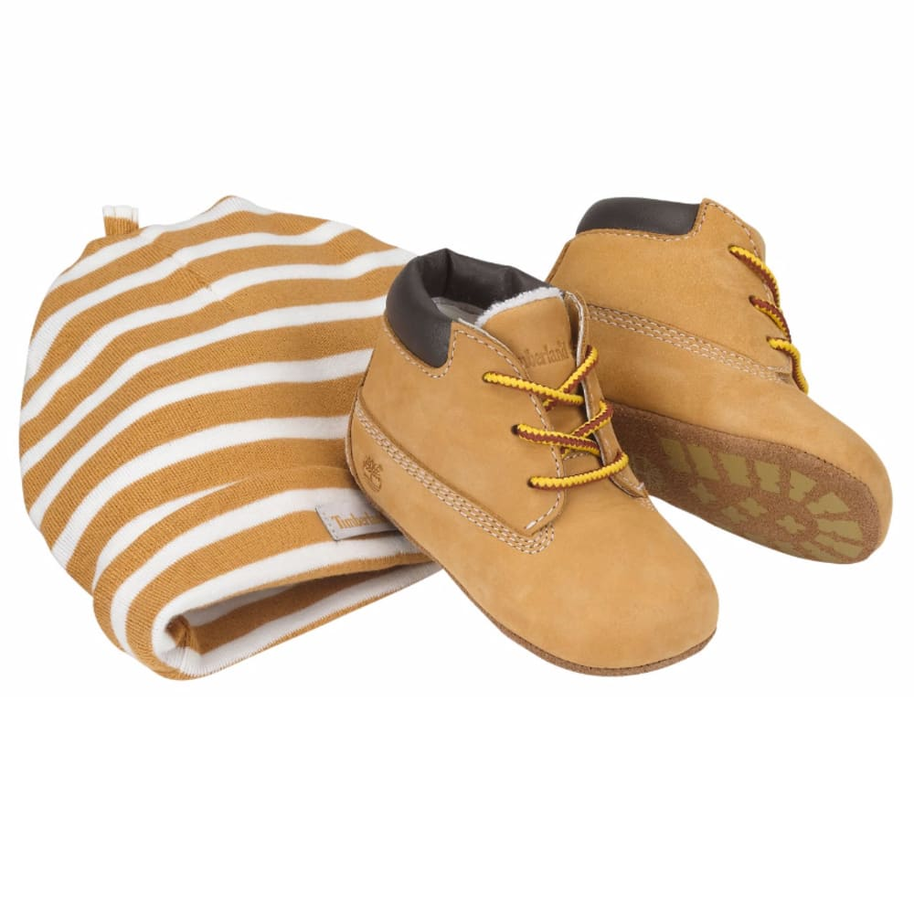 TIMBERLAND Infant Boys' Crib Booties with Hat, Sizes 1-4 - WHEAT