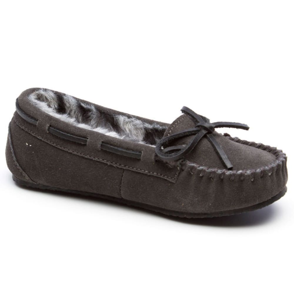 MINNETONKA Girls' Trapper II Shoes, 12-4 - CHARCOAL