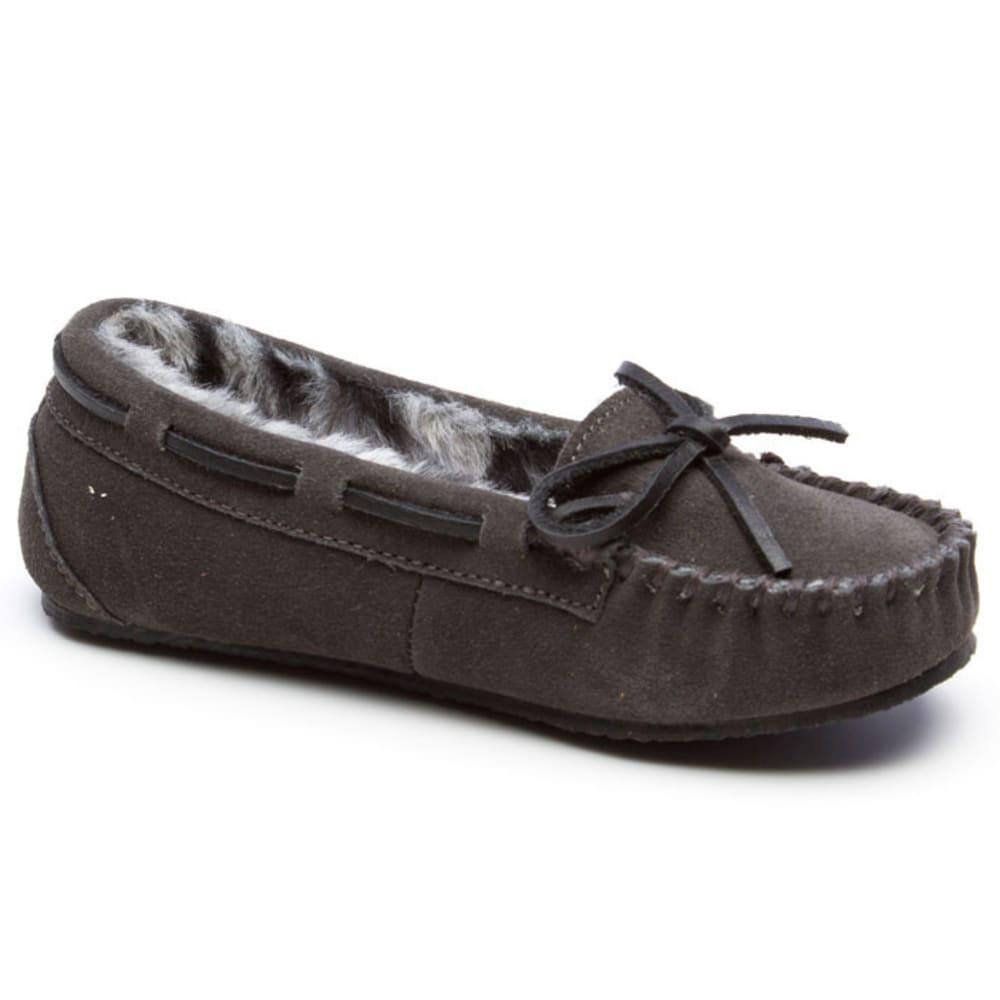 MINNETONKA Girls' Trapper II Shoes, 12-4 - CHARCOAL