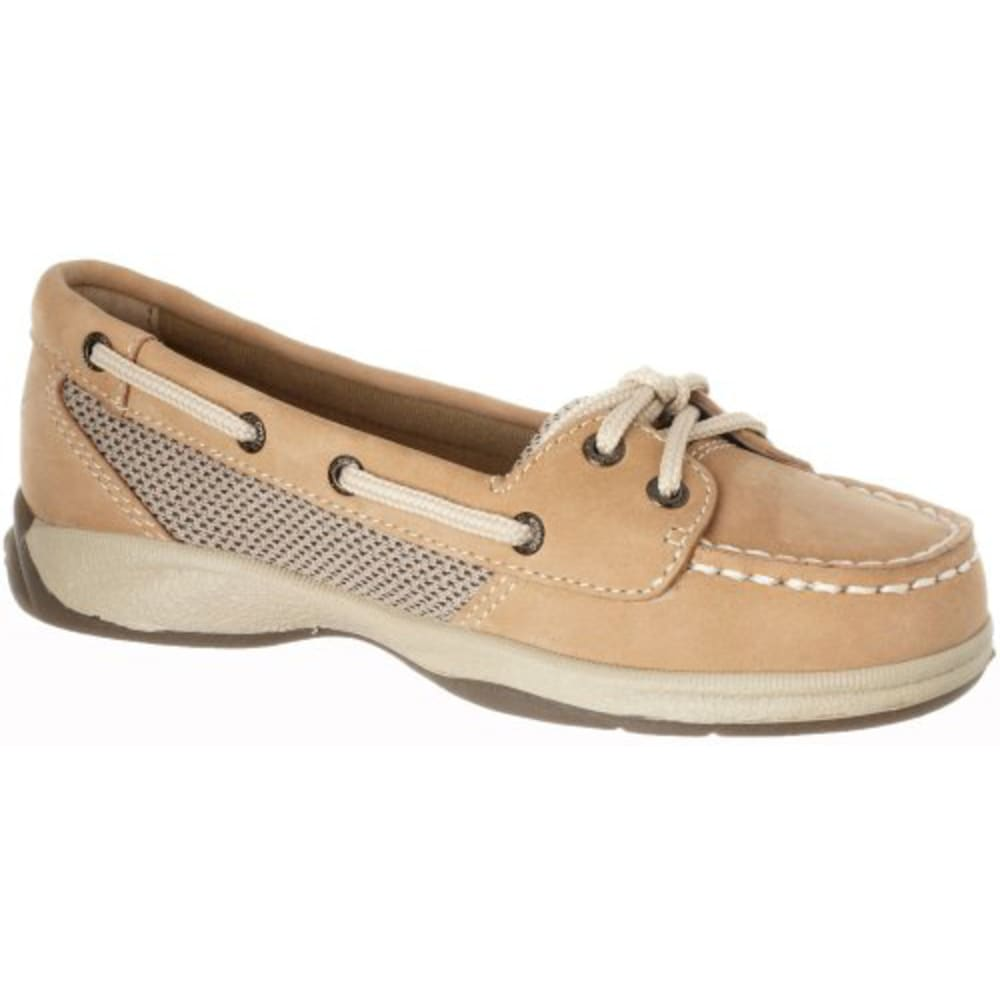 SPERRY Girl's Laguna Leather Boat Shoes - LINEN OAT