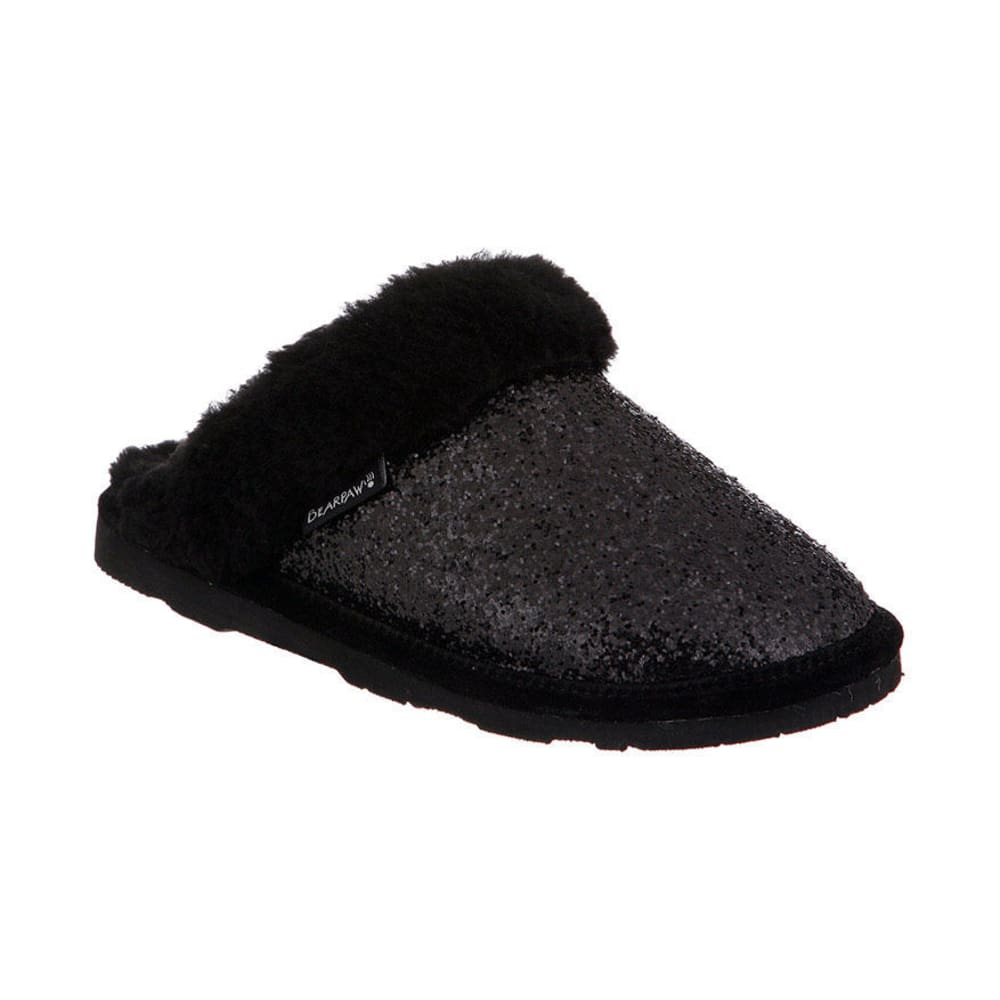 BEARPAW Girls' Laney Slipper, Black - BLACK