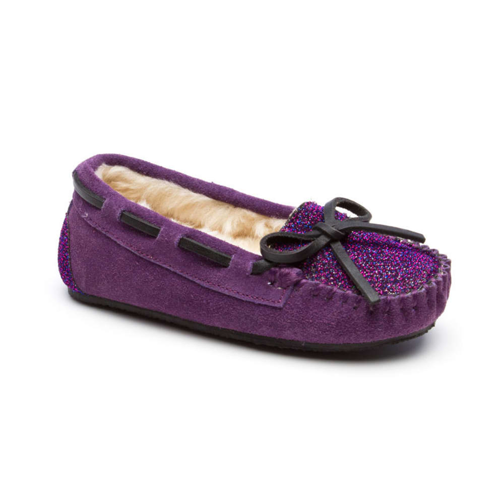 MINNETONKA Girls' Sparkle Jocelyn Trapper Shoes, Sizes 12-4 - PURPLE