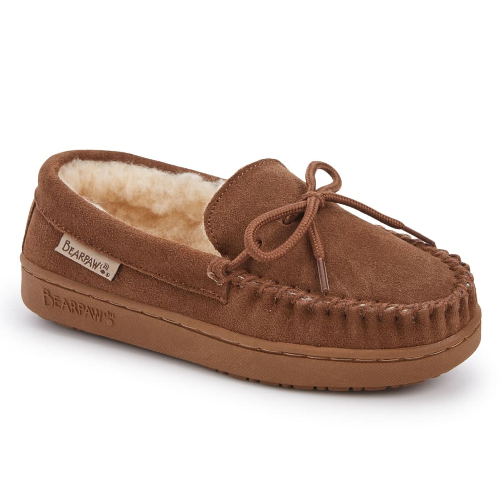 BEARPAW Girls' Moc Slippers - HICKORY