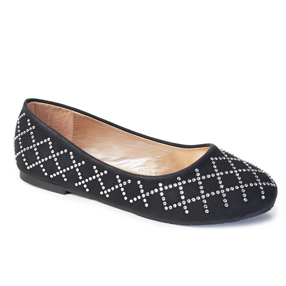YOKIDS Girls' Daisy Ballet Flats - BLACK