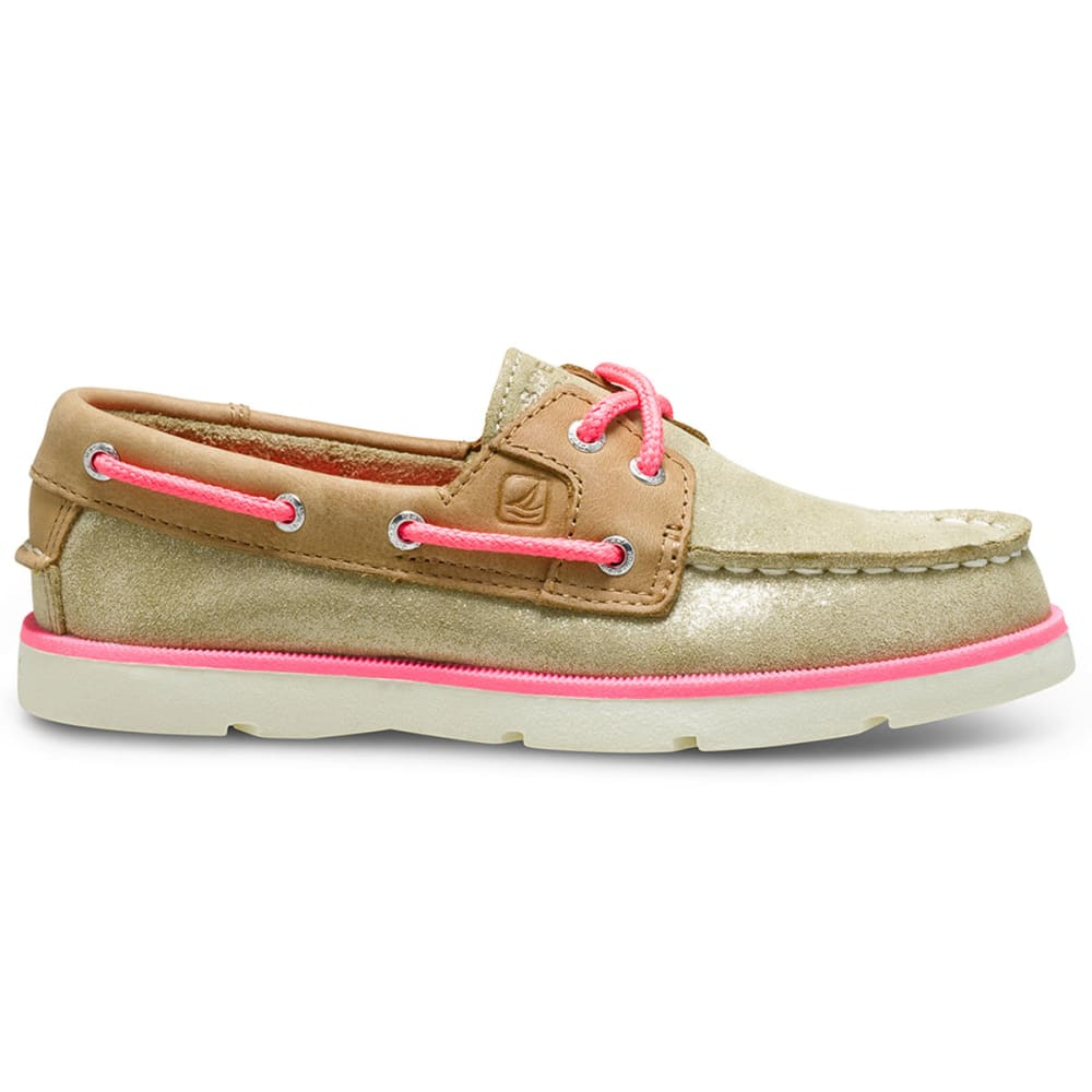 SPERRY Girls' Leeward Boat Shoes - TAUPE