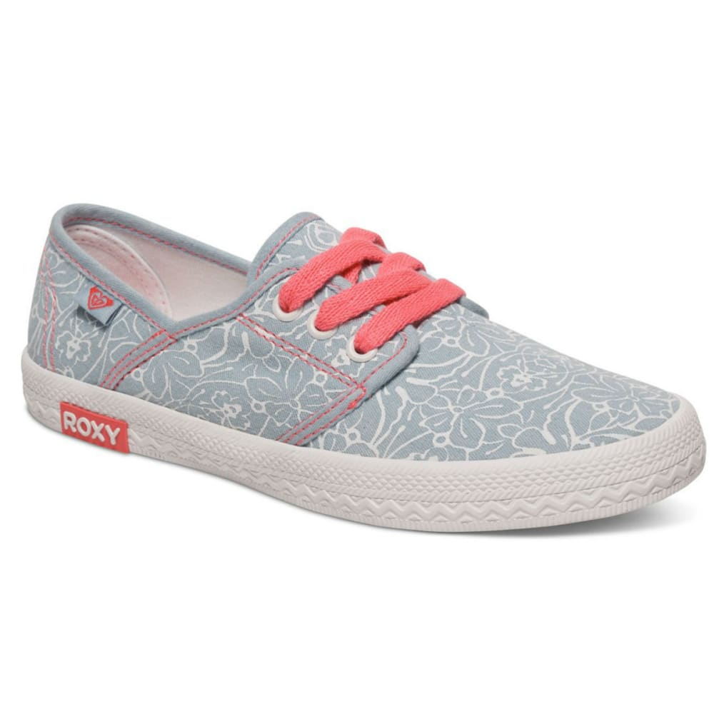 ROXY Girls' Hermosa Chambray Shoes - NAVY/CORAL
