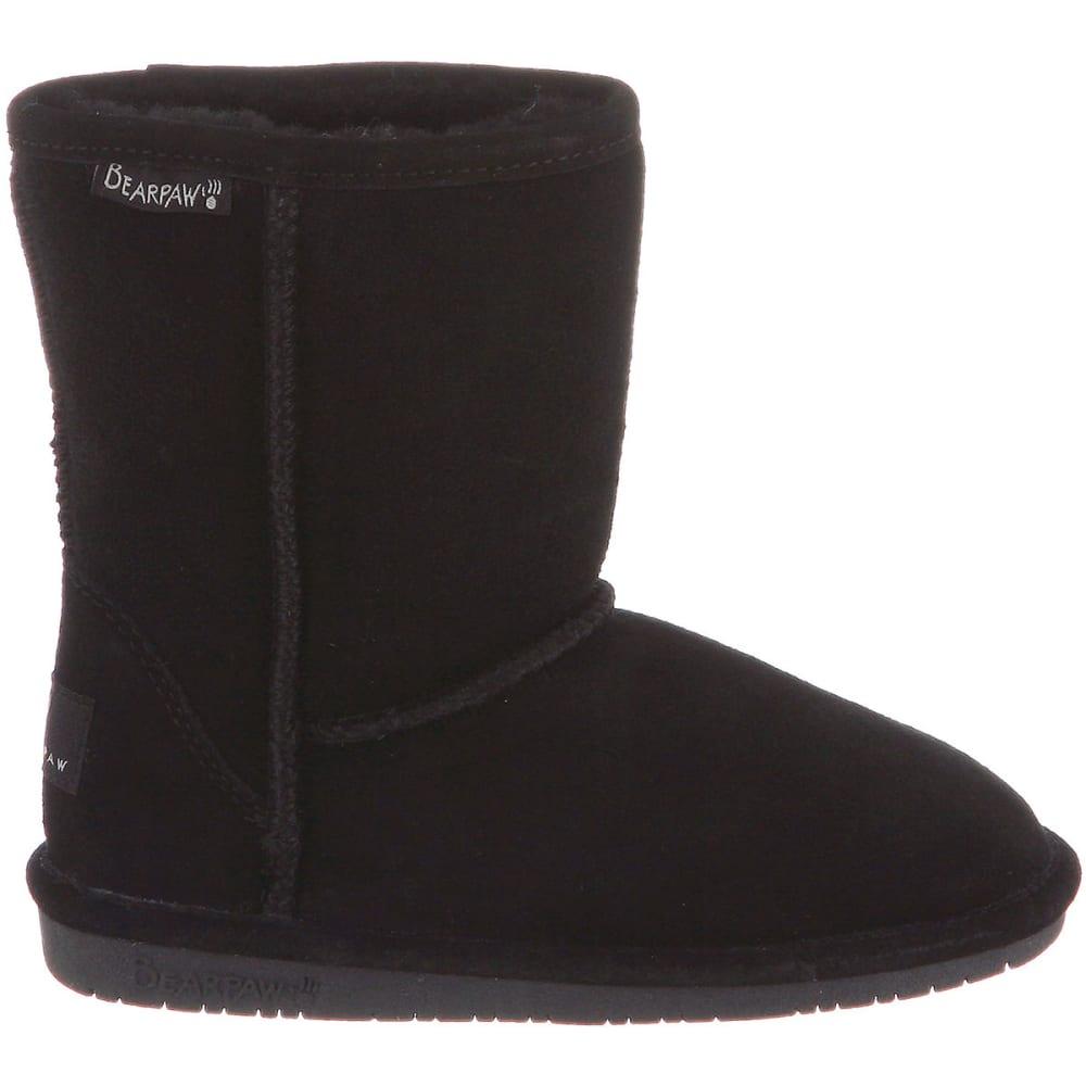BEARPAW Girls' Emma Boots, Black, 13, 1-5 - BLACK