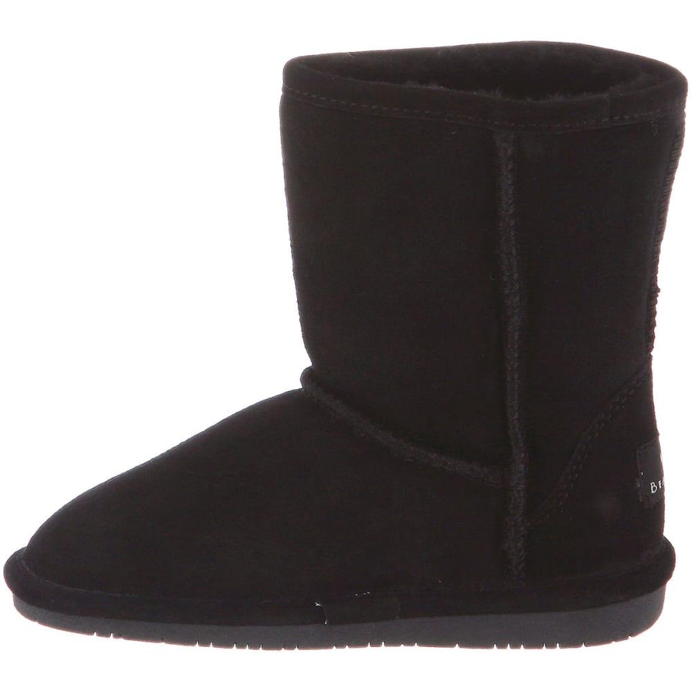 BEARPAW Girls' Emma Boots, Black, 13, 1-5 - BLACK-001