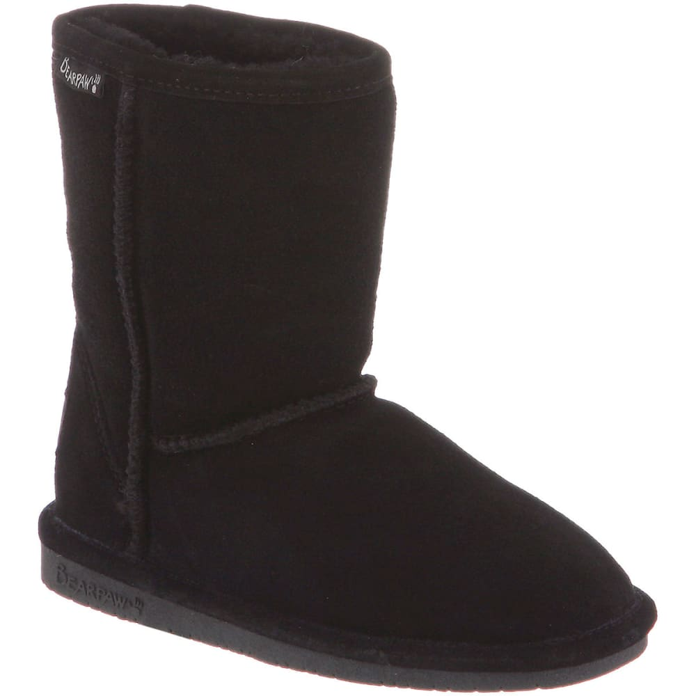 BEARPAW Girls' Emma Boots, Black, 13, 1-5 - BLACK-001