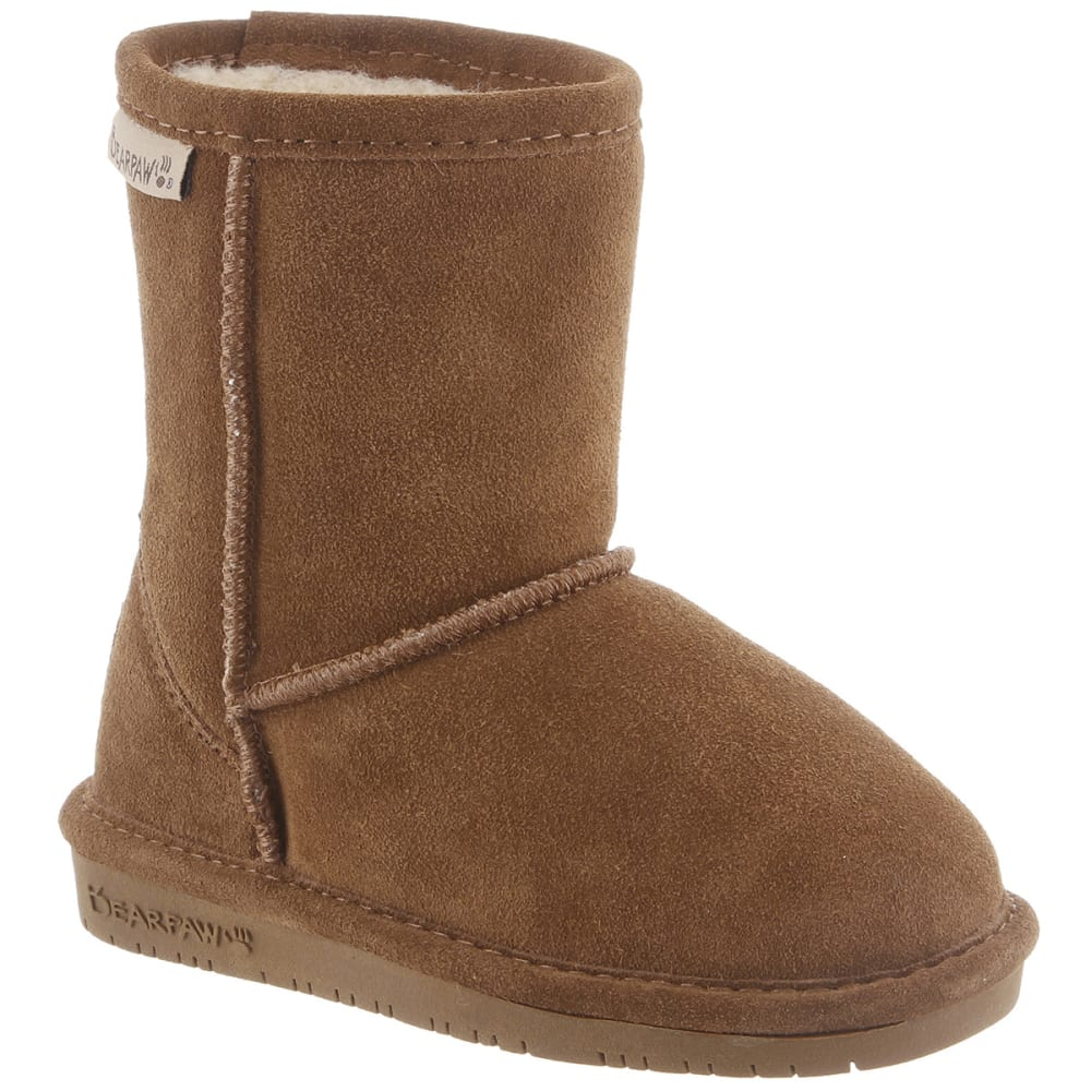 BEARPAW Girl's Emma Boots, Hickory, 11-12 - HICKORY