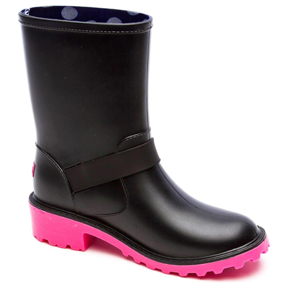 YOKI Girls' Melinda Rainboots, 10-4 - BLACK