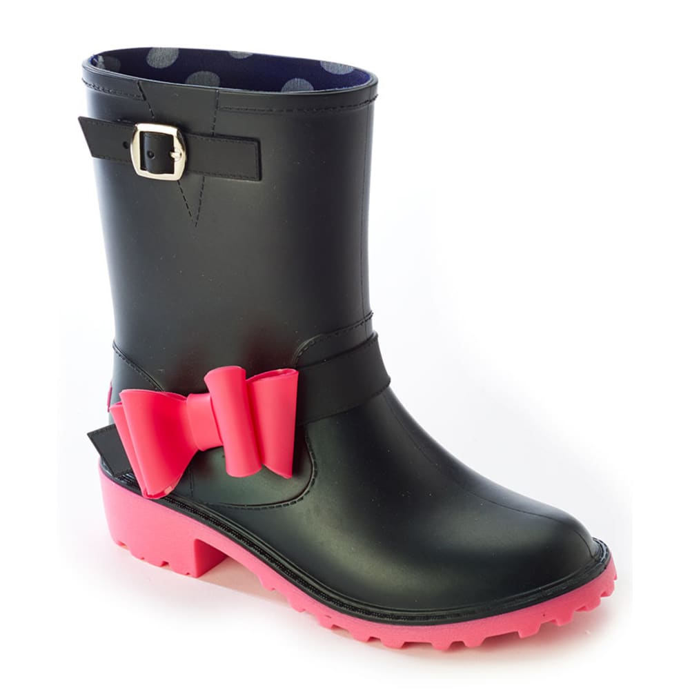 YOKI Girls' Melinda Rainboots, 10-4 - BLACK