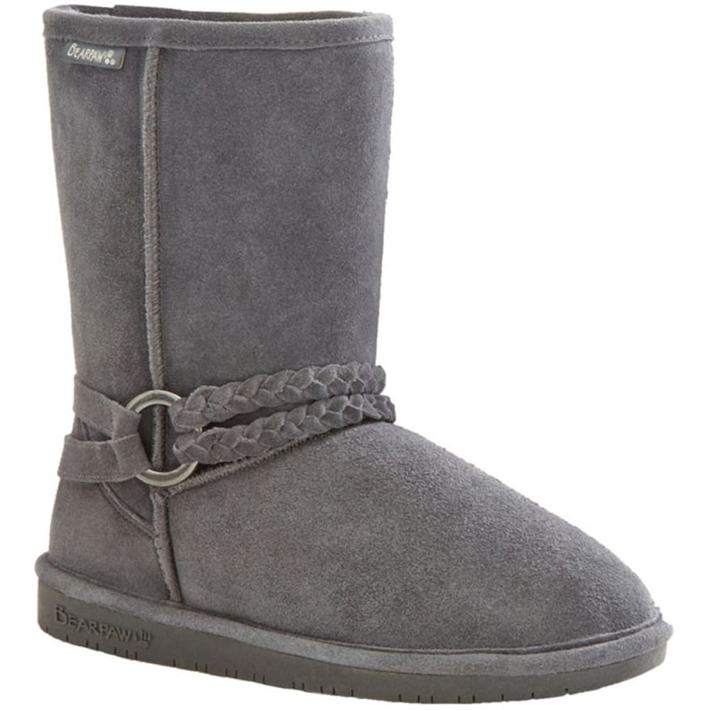 BEARPAW Girls' Adele Boots - CHARCOAL