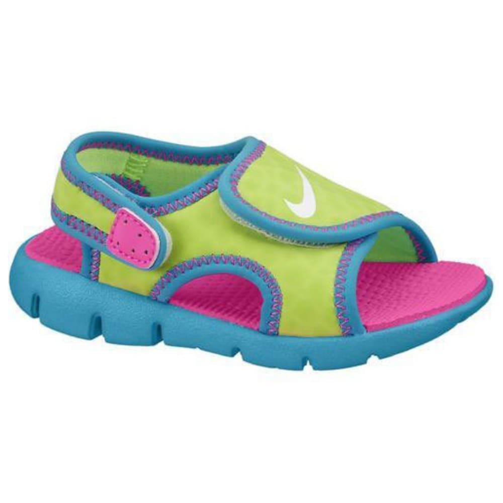 NIKE Toddler Girls' Sunray 9 Sandals - VOLT