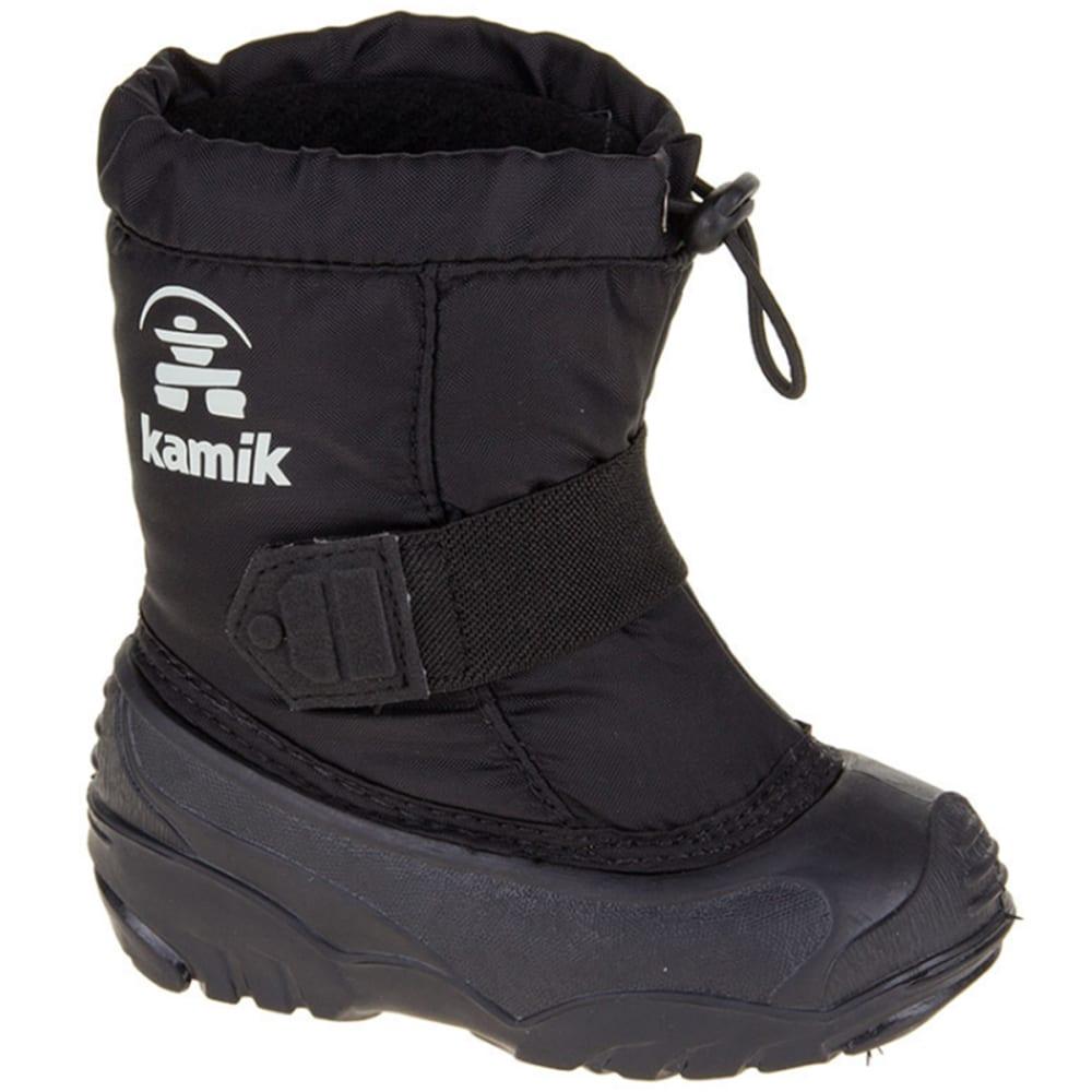 KAMIK Boys' Infant Tickle Boots, 5-10 - BLACK