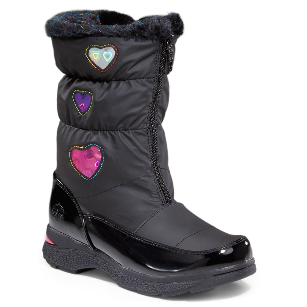 TOTES Girls' Heartfull Boot - STEALTH LINE METER