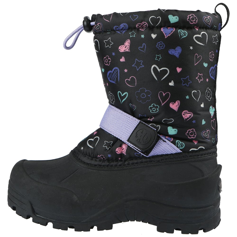 NORTHSIDE Girls' Frosty Boots, 11-5 - BLK/PURP-005
