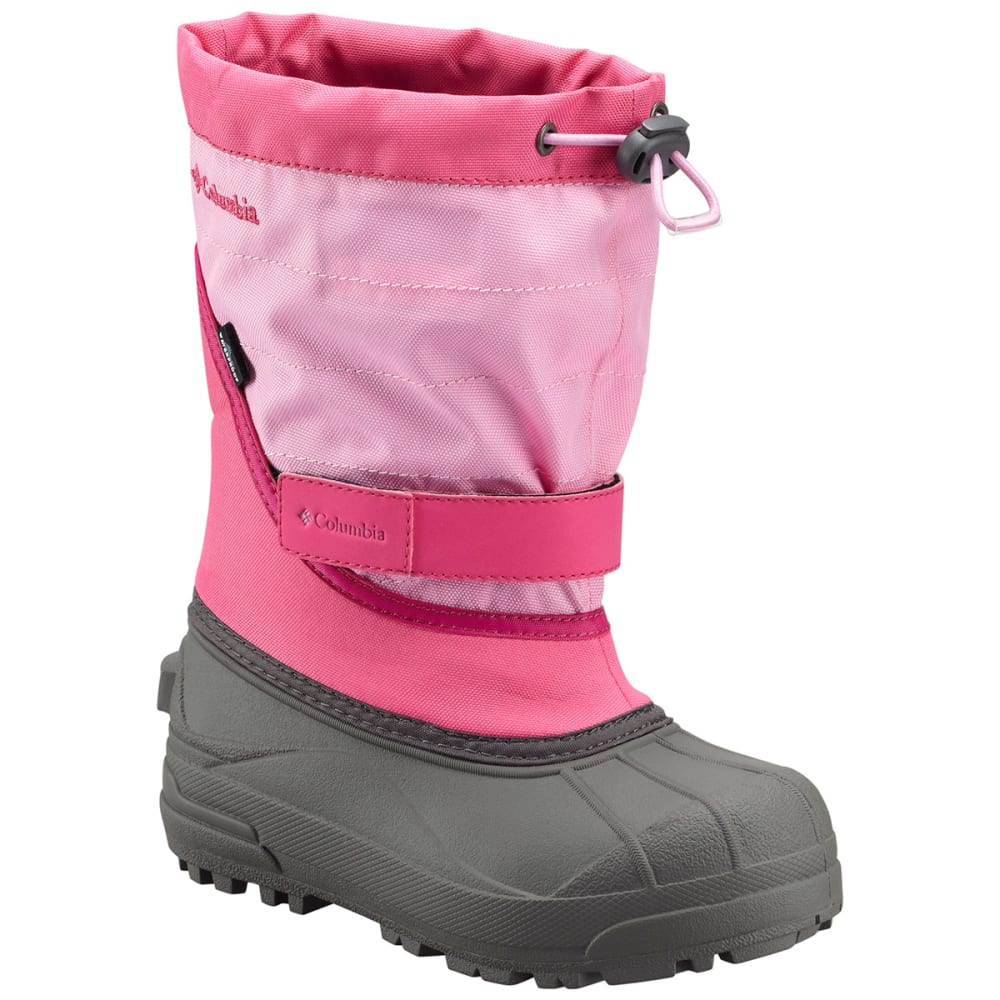 COLUMBIA Girls' Powderbug Plus II Snow Boots - KNOCKOUT PINK