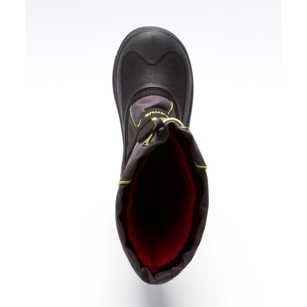 KAMIK Boys' Snowbank Boots, Sizes 1-7 - CHARCOAL/LIME