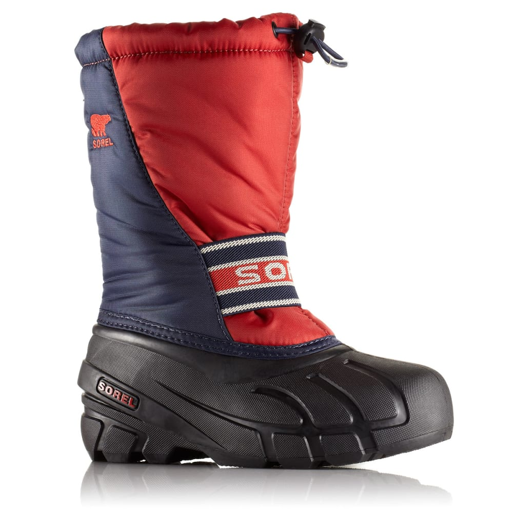 SOREL Children's Cub Boots - NAVY/RED