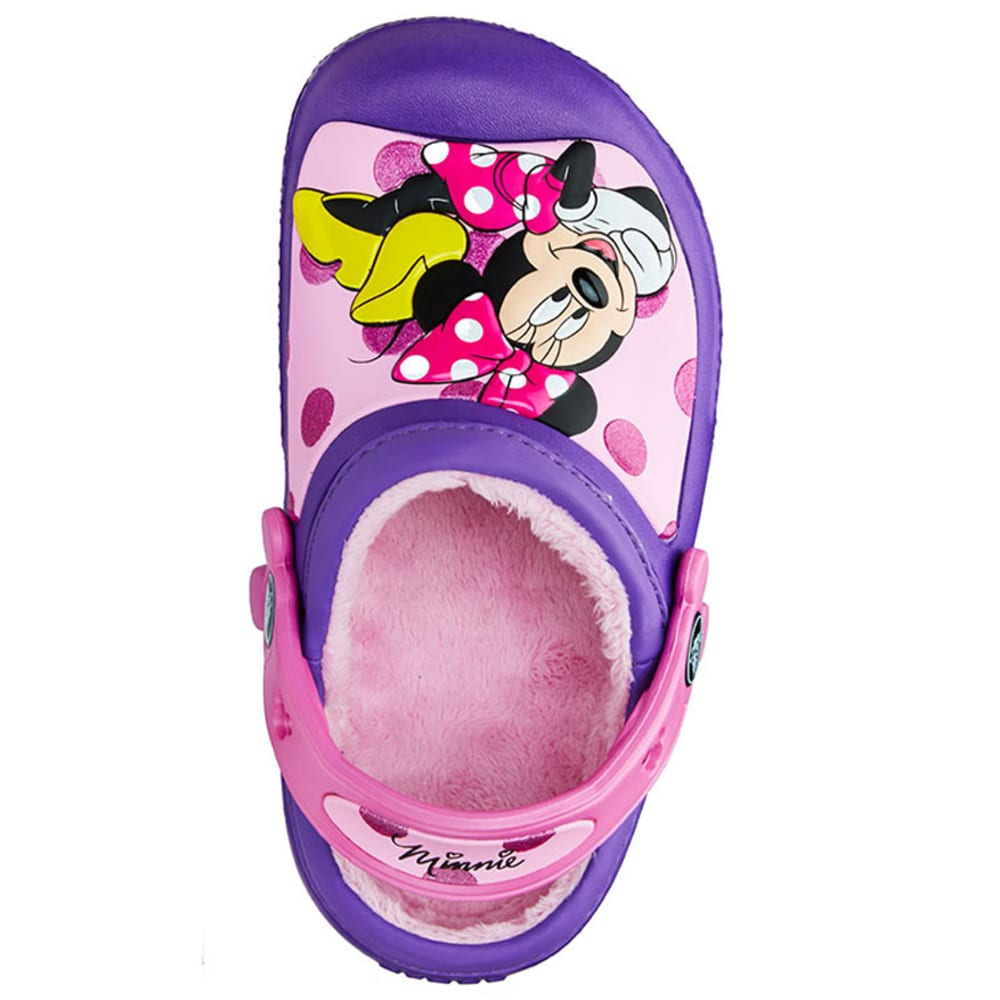 CROC Kids' Minnie Glitter Lined Clogs, 6-13 - PURPLE