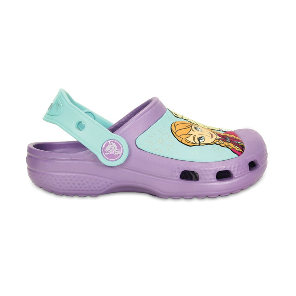 CROCS Girls' Creative Crocs Frozen™ Clogs, 6-13, 1 - PURPLE