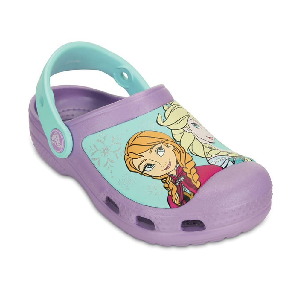 Crocs Girls Creative Crocs Frozen(TM) Clogs, 6-13, 1 - Purple, 12/13