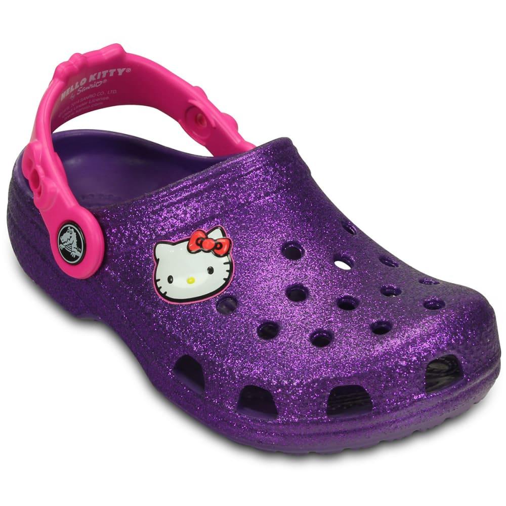 25309cb45286b8 CROCS Girls  39  Hello Kitty Clogs - NEON PURPLE