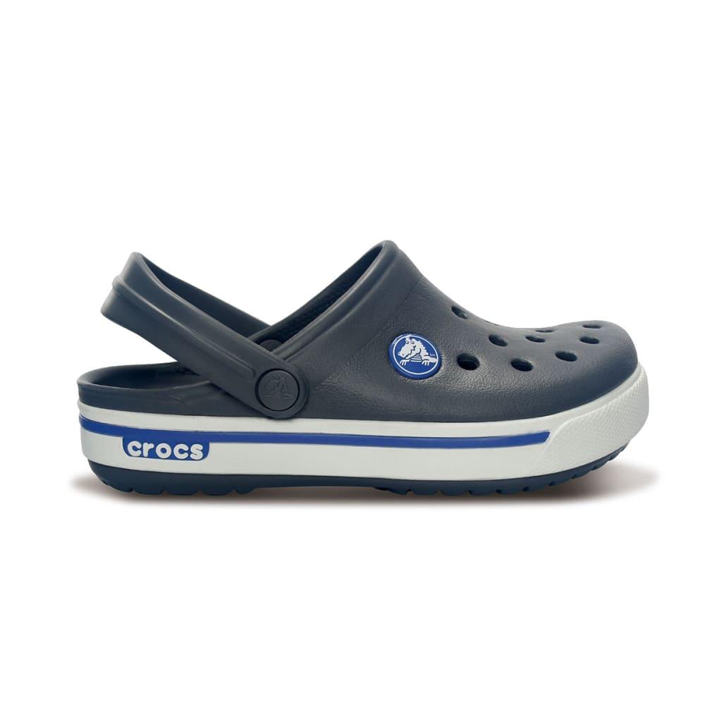 CROCS Boys' Crocband™ II.5 Clogs - CHARCOAL/SEA BLUE