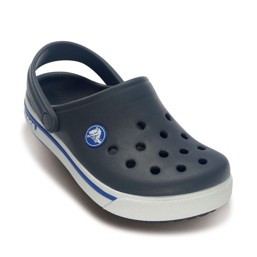 CROCS Boys' Crocband™ II.5 Clogs - CHARCOAL/SEA BLUE