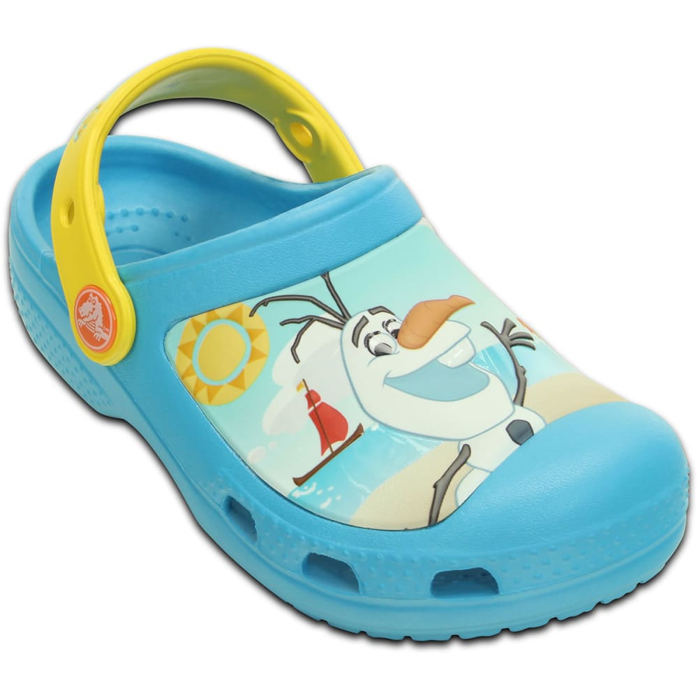 CROCS Girls' Creative Crocs Olaf™ Clogs - ELECTRIC BLUE