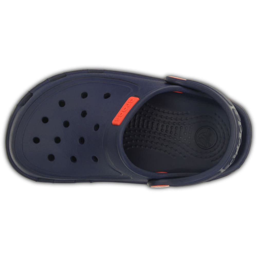 CROCS Kids' Duet Wave Clogs, Sizes 1-3, 8-13 - NAUTICAL NAVY/FLAME